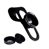 Choicelife-Universal-2-in-1-Mobile-Phone-Lens-Kit2-in-1-Macro-Lens-Wide-Angle-Lens-Universal-Clip-Black-0
