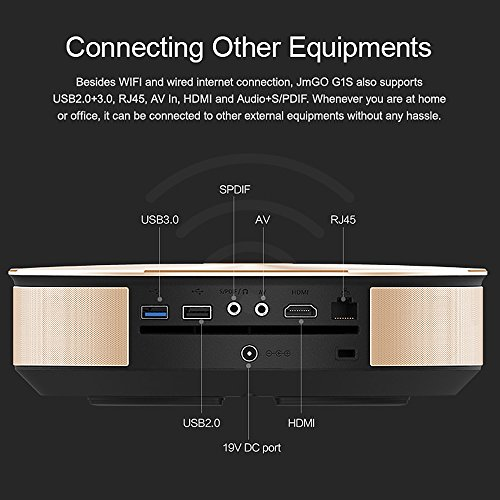 JmGO G1S HD 1800LM LED Projector Smart Mini Home Theatre
