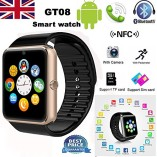 PADGENE2016-Newest-Wearable-Bluetooth-Smart-Watch-GT08-Smart-Health-Wrist-Watch-Phone-with-SIM-Card-Slot-and-NFC-for-Android-Samsung-HTC-LG-SONY-HUAWEIFull-Functions-IOS-iPhone-55s6plusPartial-functio-0-0