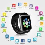 PADGENE2016-Newest-Wearable-Bluetooth-Smart-Watch-GT08-Smart-Health-Wrist-Watch-Phone-with-SIM-Card-Slot-and-NFC-for-Android-Samsung-HTC-LG-SONY-HUAWEIFull-Functions-IOS-iPhone-55s6plusPartial-functio-0-1