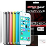 Pack-of-3-TECHGEAR-Apple-iPod-Touch-6-iPod-Touch-5-16GB-32GB-64GB-128GB-CLEAR-LCD-Screen-Protector-Covers-iPod-Touch-5th-6th-Generation-0
