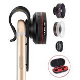 VicTsing-Clip-Supreme-Fisheye-Lens-12X-Macro-24X-Super-Macro-3-in-1-Lens-Kit-for-Apple-iPhone-SE-6-6S-6-Plus-Apple-55S5C4-HTC-Sony-LG-No-Dark-Circle-by-the-Fisheye-Lens-0