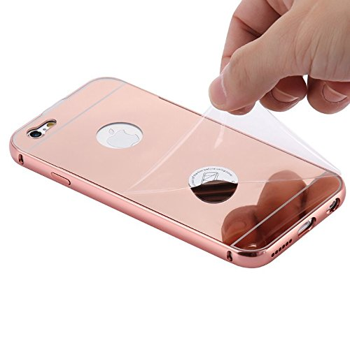 designer style rose gold iphone 5 5s 6 6s 6 plus mirrored case iphone 5 s rosegold funkymobile. Black Bedroom Furniture Sets. Home Design Ideas
