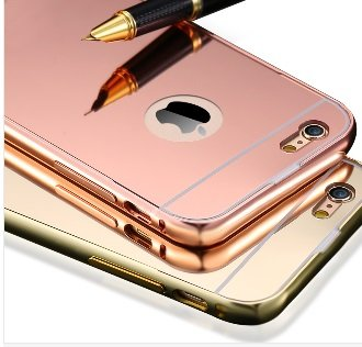 newest 92dba 5e6b7 designer style rose gold iphone 5/5s/6/6s/6 plus mirrored case (iphone 5/s,  rosegold)