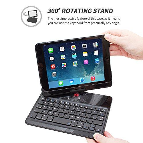 189ea4cb22c iPad Mini 1 / 2 / 3 Keyboard, Snugg™ [Black] Wireless Bluetooth ...